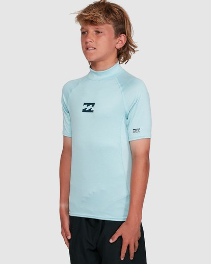 7 Boys All Day Wave Performance Fit Short Sleeve Rash Vest Blue 8703006 Billabong