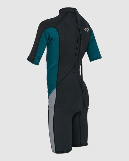 5 Boys 2/2 Absolute Flatlock Back Zip Short Sleeve Springsuit Black 8703400 Billabong