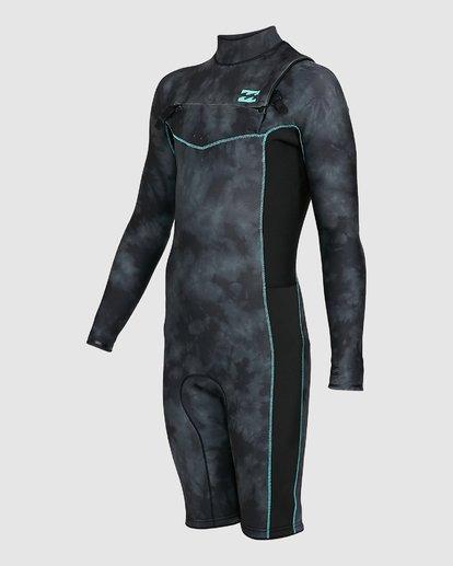 0 Boys 202 Revolution Chest Zip Long Sleeve GBS Springsuit Black 8703520 Billabong