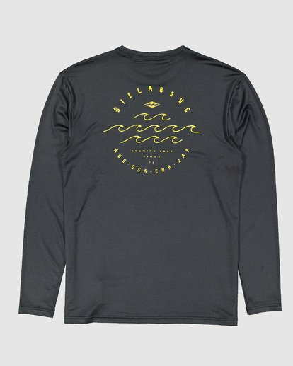 1 Boys Wavey Davy Loose Fit Long Sleeve Rash Vest Black 8704507 Billabong