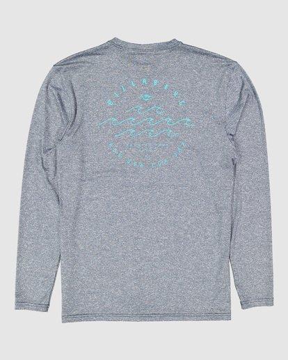 1 Boys Wavey Davy Loose Fit Long Sleeve Rash Vest Blue 8704507 Billabong