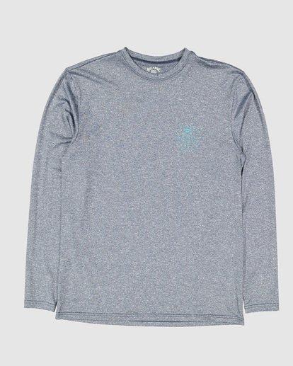 0 Boys Wavey Davy Loose Fit Long Sleeve Rash Vest Blue 8704507 Billabong