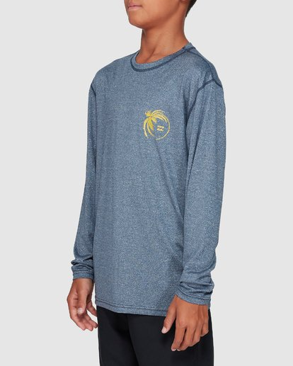1 Boys Storm Lf Long Sleeve Surf Shirt Blue 8707507 Billabong