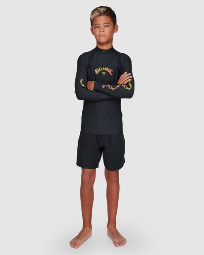 3 Boys Arch Link Performance Fit Long Sleeve Rashie Black 8707508 Billabong