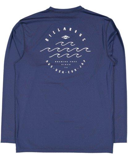 1 Boys 8-16 Wavey Davey Loose Fit Long Sleeve Rash Vest Blue 8713002 Billabong