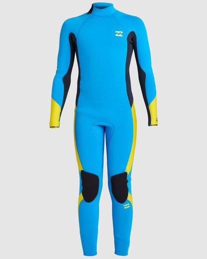 1 Boys 3/2 Absolute Back Zip Long Sleeve Gbs Fullsuit Blue 8717810 Billabong