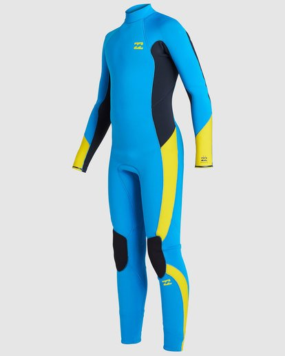 0 Boys 3/2 Absolute Back Zip Long Sleeve Gbs Fullsuit Blue 8717810 Billabong