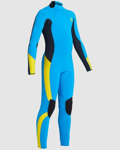 5 Boys 3/2 Absolute Back Zip Long Sleeve Gbs Fullsuit Blue 8717810 Billabong