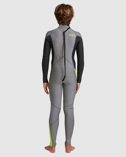 3 Boys 3/2 Absolute Back Zip Long Sleeve Gbs Fullsuit Grey 8717810 Billabong