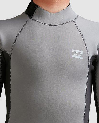 5 Boys 3/2 Absolute Back Zip Long Sleeve Gbs Fullsuit Grey 8717810 Billabong