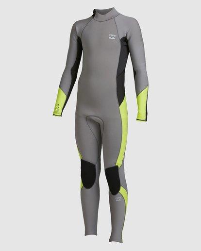 4 Boys 3/2 Absolute Back Zip Long Sleeve Gbs Fullsuit Grey 8717810 Billabong