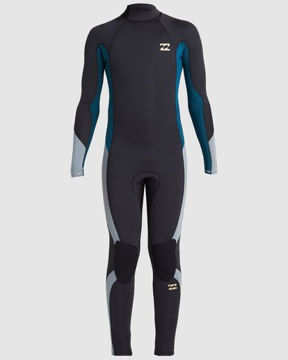 1 Boys 4/3 Absolute Back Zip Long Sleeve Gbs Fullsuit Black 8717817 Billabong