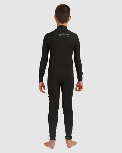 2 Boys 3/2 Revolution Chest Zip Long Sleeve Fullsuit Black 8717820 Billabong