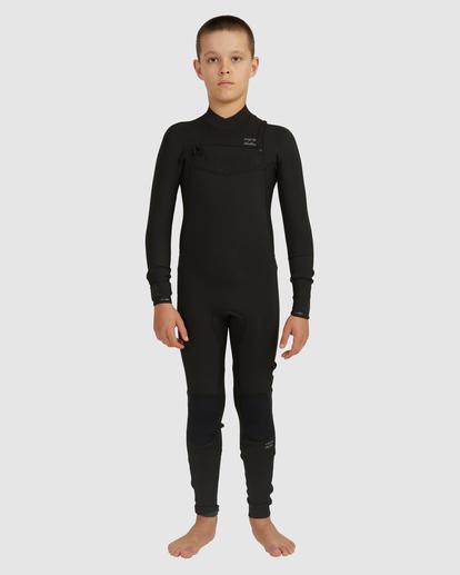 1 Boys 3/2 Revolution Chest Zip Long Sleeve Fullsuit Black 8717820 Billabong