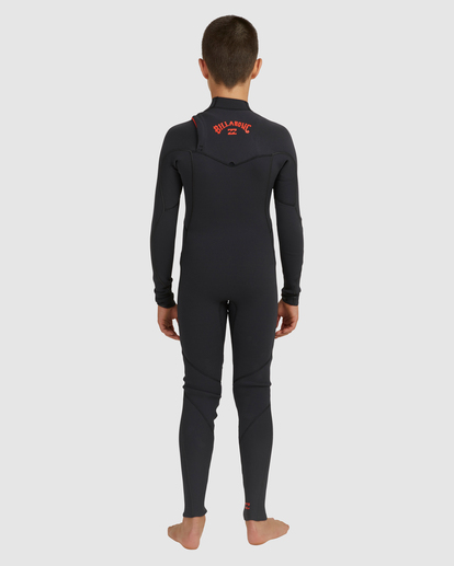 1 Boys 4/3 Furnace Comp Chest Zip Fullsuit Black 8717891 Billabong