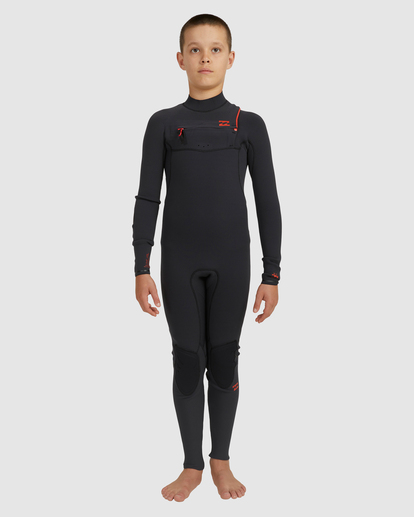 0 Boys 4/3 Furnace Comp Chest Zip Fullsuit Black 8717891 Billabong