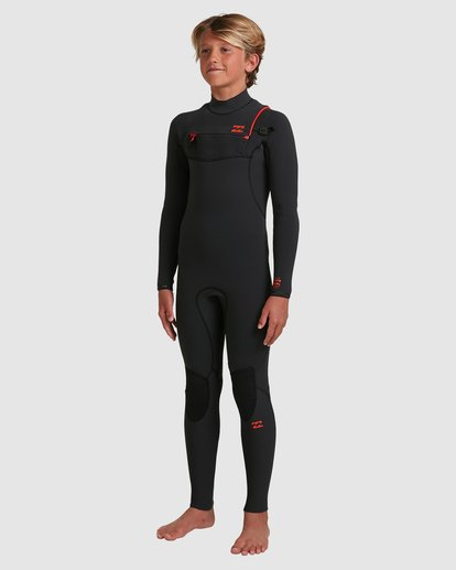 3 Boys 4/3 Furnace Comp Chest Zip Fullsuit Black 8717891 Billabong