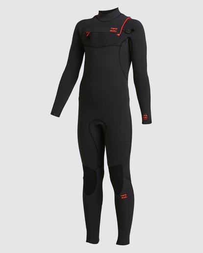 6 Boys 4/3 Furnace Comp Chest Zip Fullsuit Black 8717891 Billabong