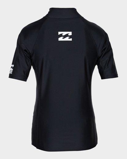 2 Teen All Day Unity Short Sleeve Surf Shirt Black 8771010 Billabong