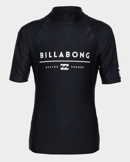 0 Teen All Day Unity Short Sleeve Surf Shirt Black 8771010 Billabong