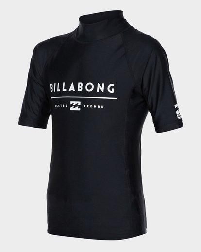 1 Teen All Day Unity Short Sleeve Surf Shirt Black 8771010 Billabong