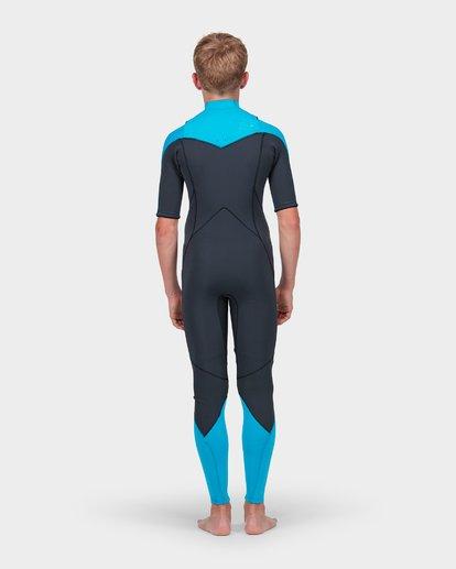 2 Teen Absolute Comp Short Sleeve 202 Chest Zip Suit Green 8773618 Billabong