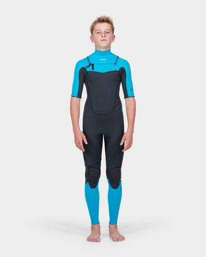 1 Teen Absolute Comp Short Sleeve 202 Chest Zip Suit Green 8773618 Billabong