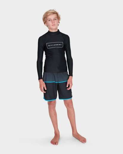 3 TEEN ALL DAY UNITED PERFORMANCE FIT RASH VEST Black 8781007 Billabong