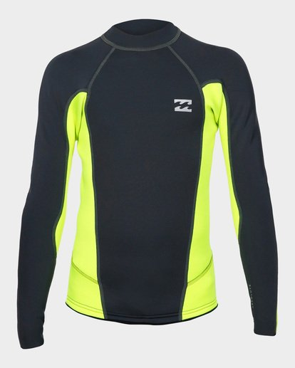 1 Boys Absolute Lite Wetsuit Jacket Yellow 8791132 Billabong