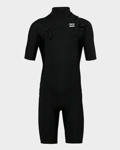 1 Boys 202 Revolution Gbs Short Sleeve Springsuit Black 8791420 Billabong