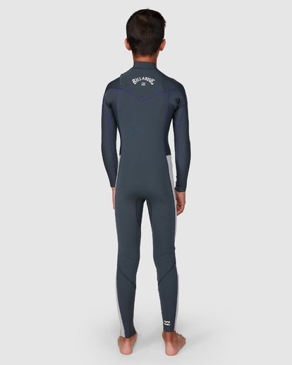9 302 Boys Furnace Revolution Long Sleeve Fullsuit Grey 8791820 Billabong