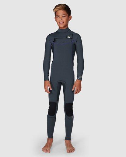 6 302 Boys Furnace Revolution Long Sleeve Fullsuit Grey 8791820 Billabong