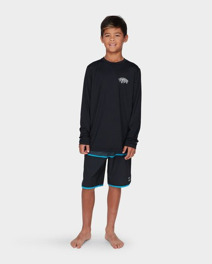 3 TEEN SPACE STORM LONG SLEEVE SURF SHIRT Black 8795001 Billabong