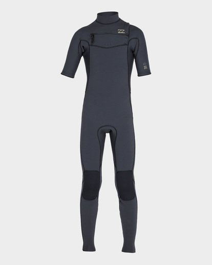 1 BOYS 202 REVOLUTION CHEST ZIP FULLSUIT Black 8795620 Billabong