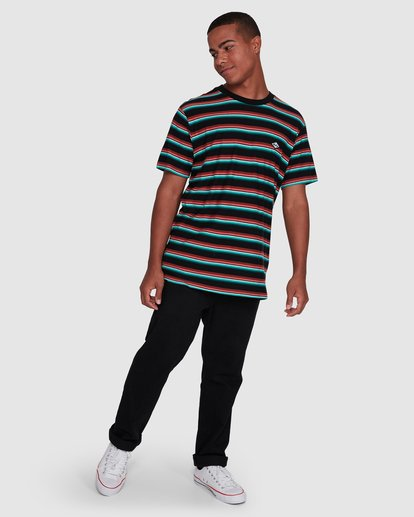 6 Die Cut Stripe Short Sleeve Crew Black 9503000 Billabong