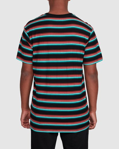 3 Die Cut Stripe Short Sleeve Crew Black 9503000 Billabong