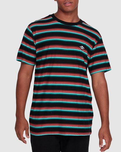 1 Die Cut Stripe Short Sleeve Crew Black 9503000 Billabong