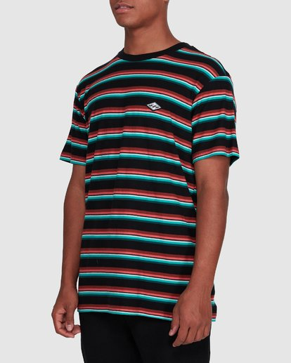 2 Die Cut Stripe Short Sleeve Crew Black 9503000 Billabong
