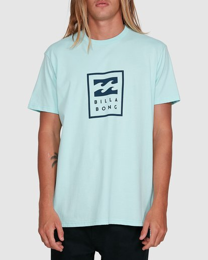 0 United Stack Short Sleeve Tee Green 9503009 Billabong