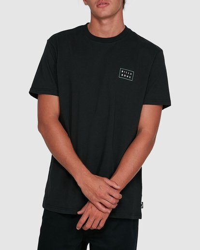 1 Die Cut Theme Short Sleeve Tee Black 9503013 Billabong