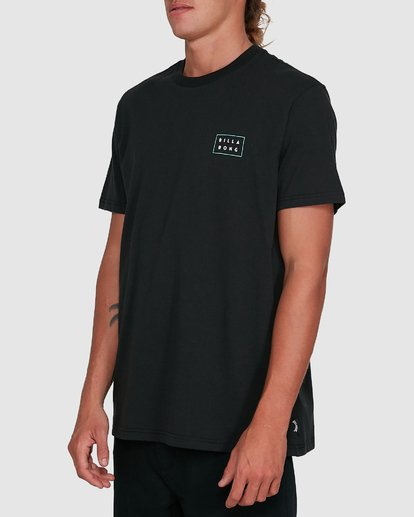 2 Die Cut Theme Short Sleeve Tee Black 9503013 Billabong