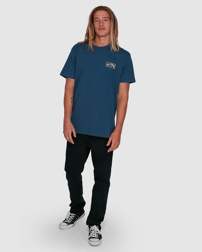 6 Boxed Arch Short Sleeve Tee Blue 9503014 Billabong