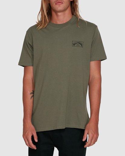 0 Boxed Arch Short Sleeve Tee Green 9503014 Billabong