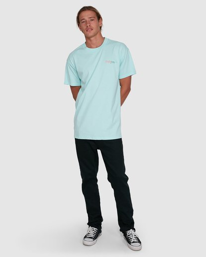 6 Crayon Wave Short Sleeve Tee Green 9503016 Billabong