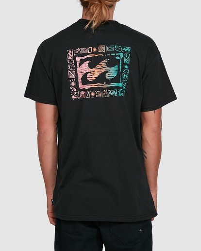 3 Crayon Wave Short Sleeve Tee Black 9503016 Billabong