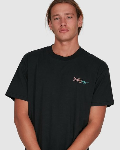 4 Crayon Wave Short Sleeve Tee Black 9503016 Billabong