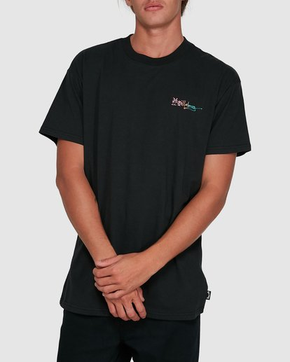 1 Crayon Wave Short Sleeve Tee Black 9503016 Billabong