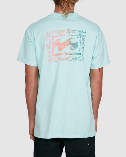 3 Crayon Wave Short Sleeve Tee Green 9503016 Billabong