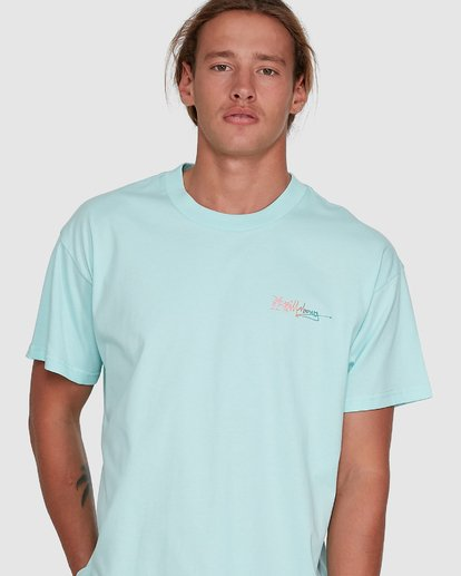 4 Crayon Wave Short Sleeve Tee Green 9503016 Billabong