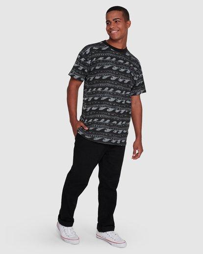 6 Rack Stripe Short Sleeve Tee Black 9503030 Billabong